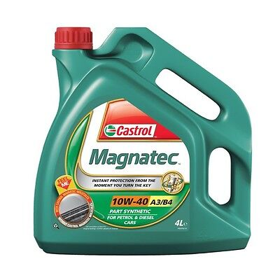 4L Car Engine Oil 4 Litres SAE 10W40 A3 B4 Semi Synthetic - Castrol Magnatec