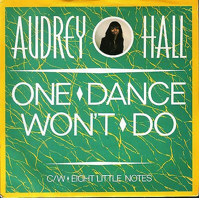 "AUDREY HALL one dance won't do/eight little notes DG7-1985 uk germain 7"" PS EX/E"