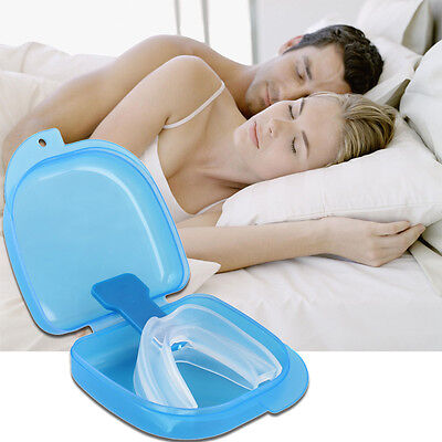 New Anti Snore Stop Snoring AID Mouth Guard Piece Sleeping Aid Apnea Relief