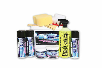 PCNRP1 Pro Clean Race Pack (Chain Lube Super Lube, Tyre Lube, De-greaser, +more)