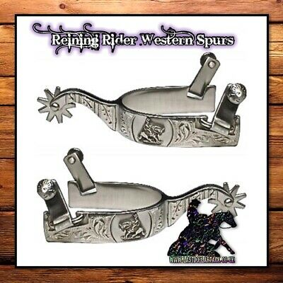Super Smart High End Quality Satin Brushed S/s Reining Rider Show Spurs