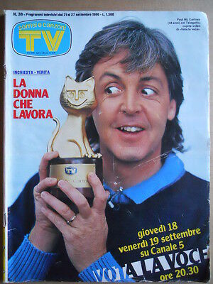 TV Sorrisi e Canzoni n°38 1986 Paul McCartney - Trailer Aliens - Bonaccorti [D4]