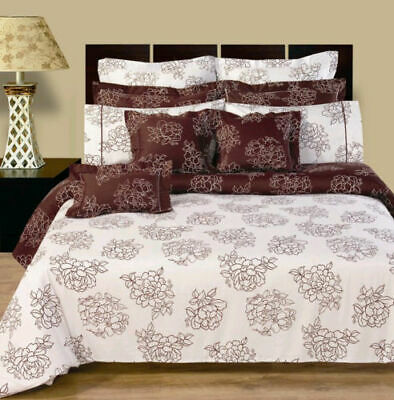 Reversible 11-PC Cotton Cloverdale Bedding Set, Fitted Sheet & Decortive Shams