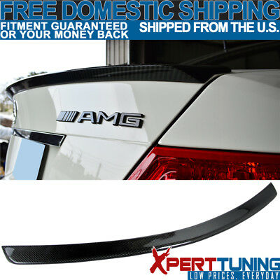Fit For 08-14 C Class W204 C63 AMG Rear Trunk Spoiler Wing - Carbon Fiber (CF)