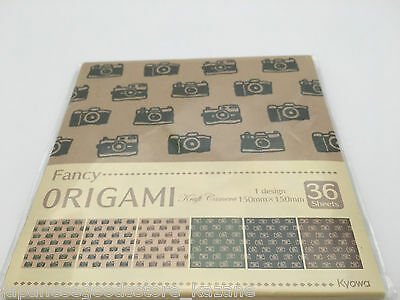 Origami Chiyogami Papers 36 sheets Camera Paper Craft Made in Japan