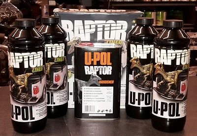 UPOL Raptor Tough Durable waterproofing BODYLINER Urethane Black Free T Shirt!!