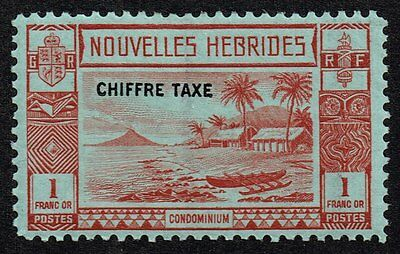 New Hebrides (French) 1938 postage due 1f., MH (SG#FD69)