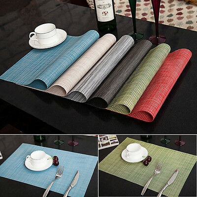 4pcs Quick-drying Placemats Insulation Mats Tables Coasters Kitchen Dining Table