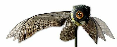 Bird-X Prowler Owl Decoy with Moving Wings Realistic Bird Scare by Bird-X NEW