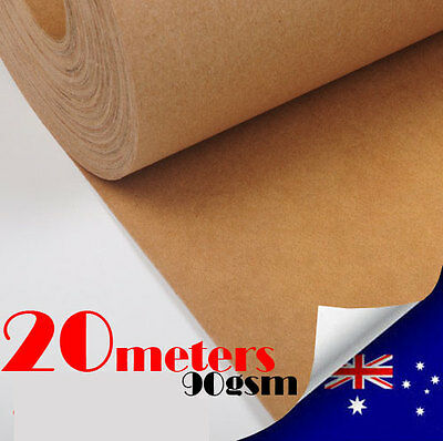 20M Kraft Paper Roll 90gsm / 750mm Supper Strong Packaging Craft Wrapping Paper