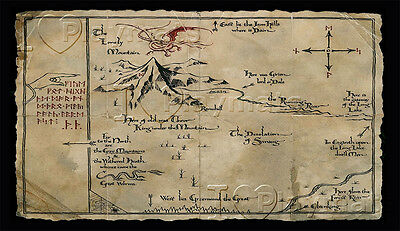 Playmat Tappetino YUGIOH Mappa lo Hobbit Lonely Mountain Magic MTG Force of Will
