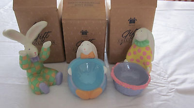 LOT SET OF 3 AVON EGGS TO YOU CLOWN BUNNY EASTER EGG HOLDER CUPS IN BOXES