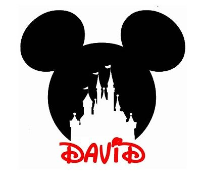 Disney Family Vacation ::Mickey Mouse Castle Personalized Shirt Iron On Transfer