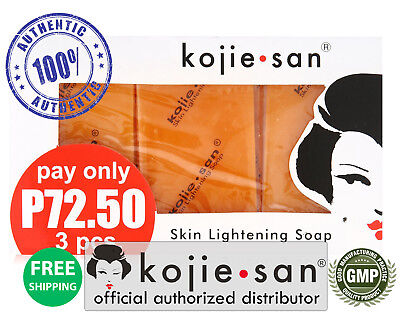 Kojie San 3-Pack Skin Whitening Lightening Bleaching Kojic Acid Soap 65-SAVE!