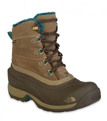 North Face Chilkat III Womens Brown Leather Waterproof Walking Boots Size UK 4-6