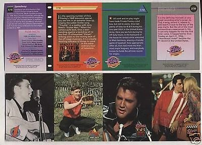 """Elvis Presley Uncut Sheet of Trading Cards """" RARE """" The River Group"""