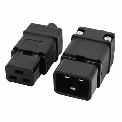 Indusrial Rewirable IEC320 C19 Male Connector + IEC320 C20 Female Socket