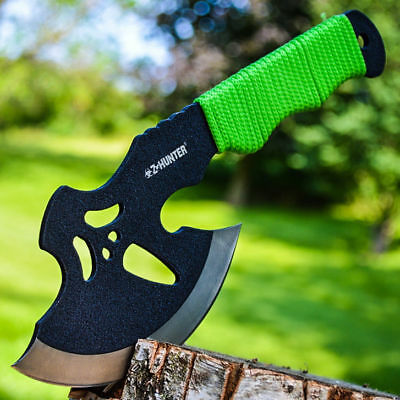 "10"" SURVIVAL CAMPING TOMAHAWK THROWING AXE BATTLE Hatchet hunting knife tactical"
