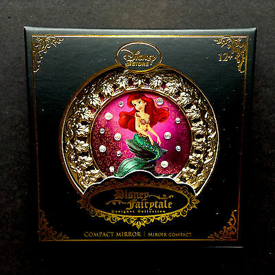 DISNEY Store 2015 FAIRYTALE DESIGNER COLLECTION - ARIEL Compact Mirror NEW