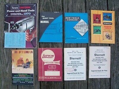 Vintage Tool Catalogs Price Lists Lot of 8 Lufkin Starrett Craftsman Stanley