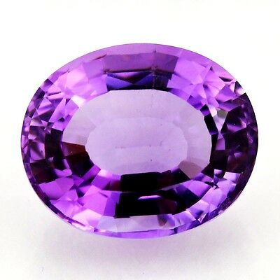 11.36 ct Natural Amethyst Faceted ( Untreated ) Mogok / L8177