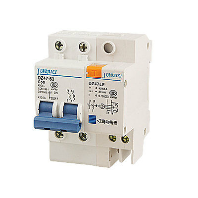 ON/OFF Safety Switch 2P Earth Leakage Circuit Beaker