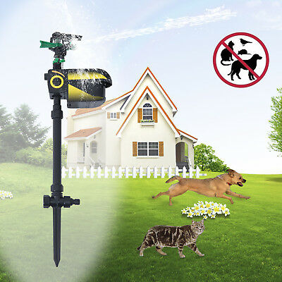 PawHut Animal Repeller Adjustable Sensor Water Spray Sprinkler Battery Scarecrow