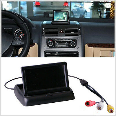 "Foldable 4.3"" LCD TET Monitor Display For Autos Reverse Rearview Parking Camera"