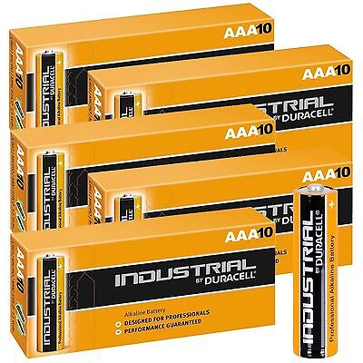 50 AAA Duracell Industrial Professional Alkaline Batteries MN2400 LR03 1.5 Volts