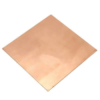 1pc 99.9% Pure Copper Sheet Plate Options Guillotine Cut 100 x 100x 0.5 mm Thick