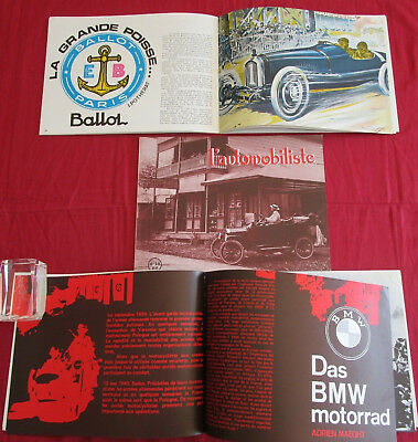 L'automobiliste N°18 : motos BMW  type russie , FORD  T ,  automobile Ballot