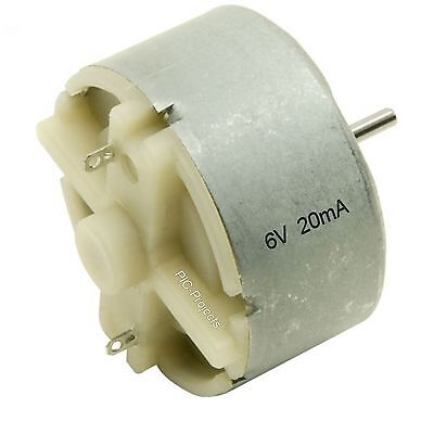 DC Motor 6 volt nominal @ 20mA 2700 rpm no load - 32mm Diameter 12 v max 45g