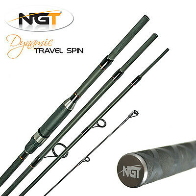 NGT Dynamic Spinning 8ft 4 Piece Travel Fishing Rod Coarse General Tackle