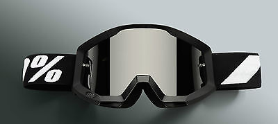2017 100% Strata Motocross Mx Bike Mtb Goggles Black Goliath Mirrored Or Clear