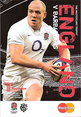 ENGLAND v BARBARIANS 2010 RUGBY PROGRAMME 30 MAY - TWICKENHAM