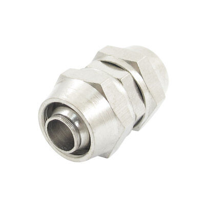 7mm x 8.5mm Air Tube Quick Coupler Joint Pneumatic Fitting Silver Tone