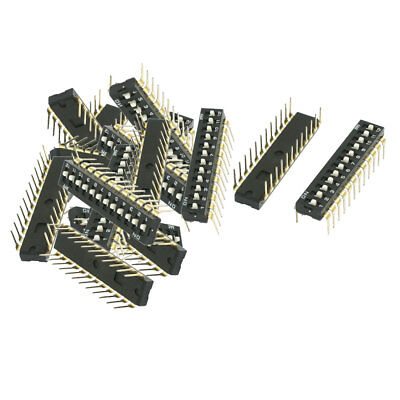 14 x Electronic Through Hole 2 Rows 12 Ways Slide Type DIP Switch