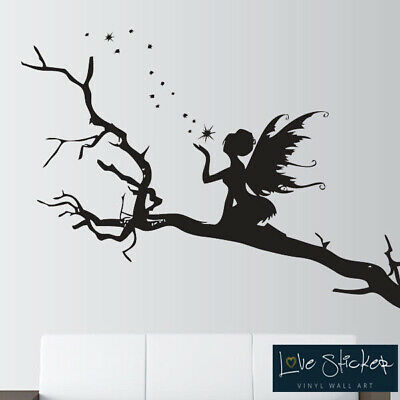 Wall Stickers Angel Trees Stars Fairy Fairytale Art Decals Vinyl Decor Room Home