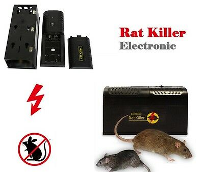 Reusable Electronic Mouse Killer Trap Rat Rodent Zapper *Humane* Battery Powered