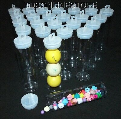 "Jumbo Round Clear Plastic Storage Tubes 5.5"" by 1.5""  Package of 50"