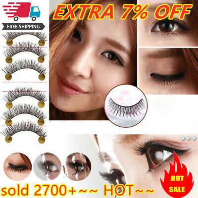 NICE Long Thick Cross 10Pairs Makeup Beauty False Eyelashes Eye Lashes Extension