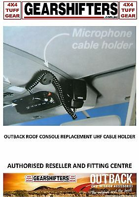 Outback Accessories Roof Consoles Microphone Cable Holder Uhf Radio 4X4 Parts