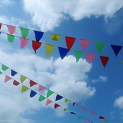 Colorful 80m Triangle Flag Pennant String Banner Festival Party Holiday Decor