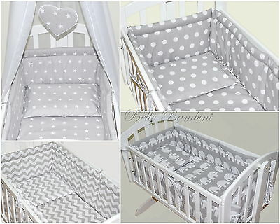 4p BABY SWINGING/ ROCKING CRIB /CRADLE BEDDING SET/ALL ROUND BUMPER 100% COTTON!