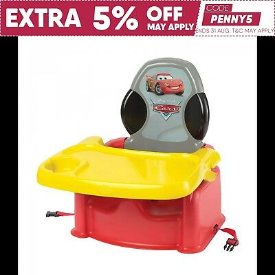 Disney Pixar Cars Lightning McQueen Child Booster Seat + Tray Table First Years