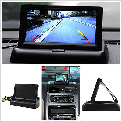 "DC12V Foldable 4.3"" TFT LCD Car Off-Road Reverse Backup Colourful Monitor Screen"
