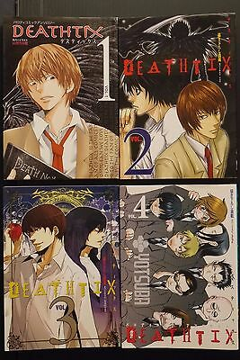 JAPAN Death Note Yaoi Anthology Comic: Deathtix 1~4 Complete Set