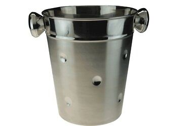 Stainless steel 4L Dimple Effect Champagne & Wine Ice Bucket W/Carry Handles