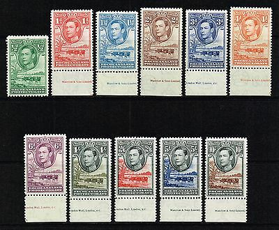 Bechuanaland 1938-52 King George VI, Baobab Tree & cattle, MNH (SG#118/128)
