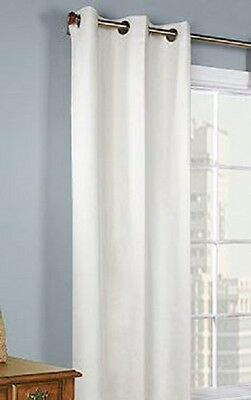 1Pc Grommet Panel Window Curtains Lined 99% Blackout Thermal K34 White